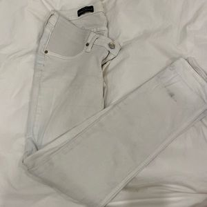 JCrew maternity matchstick white jeans